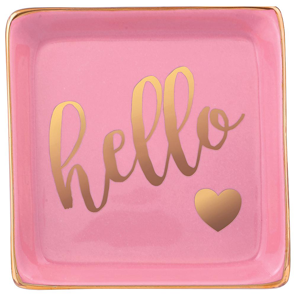 Pink Hello Trinket Dish Image #1