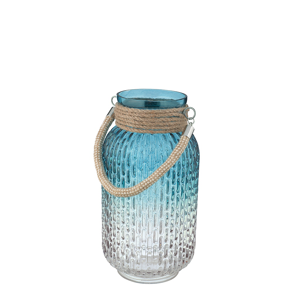 Blue Jar with Rope Handle Image #1