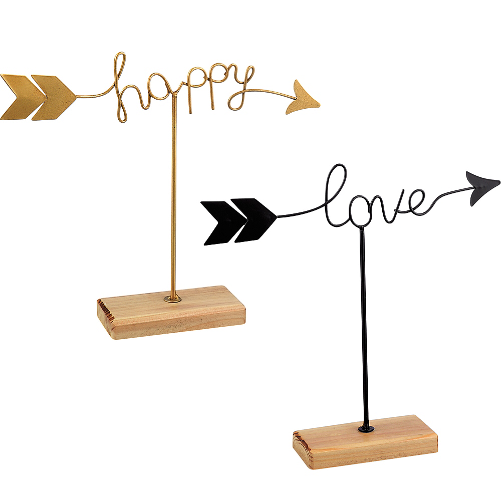 Happy and Love Arrow Sign Image #1