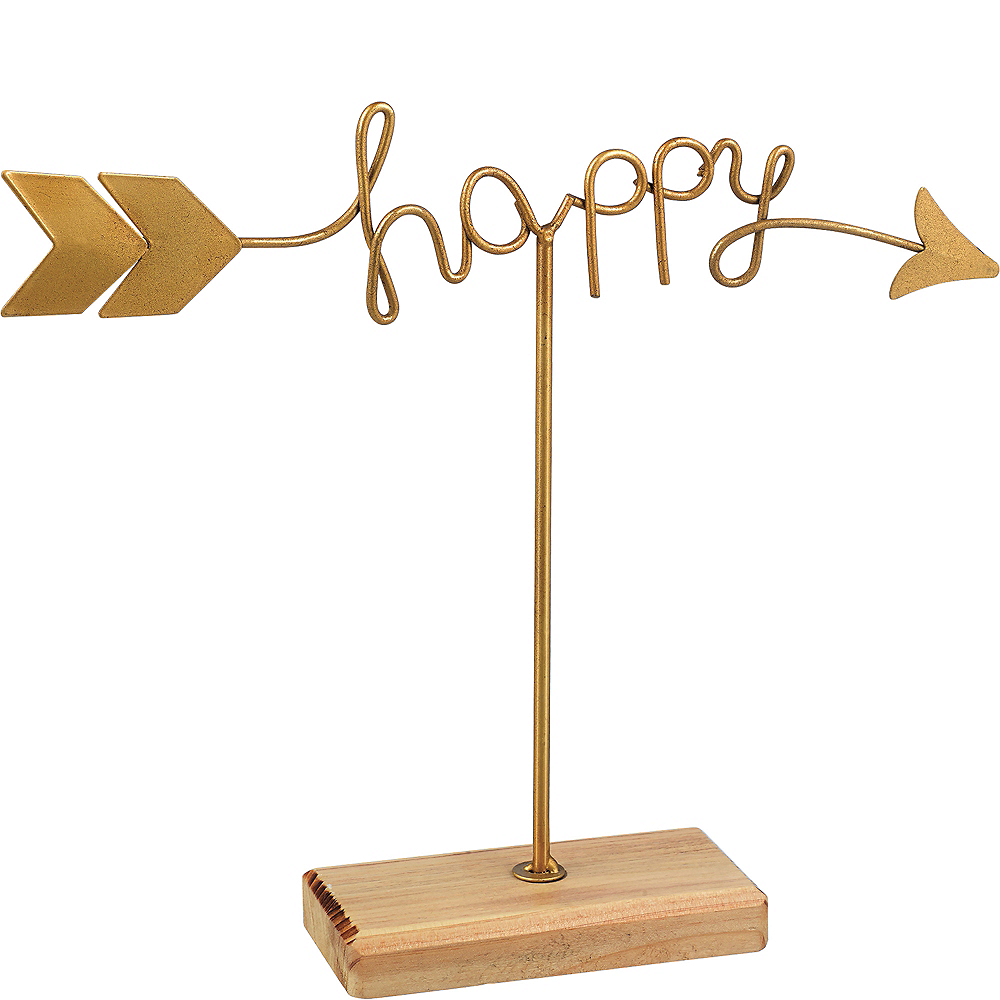 Happy and Love Arrow Sign Image #3