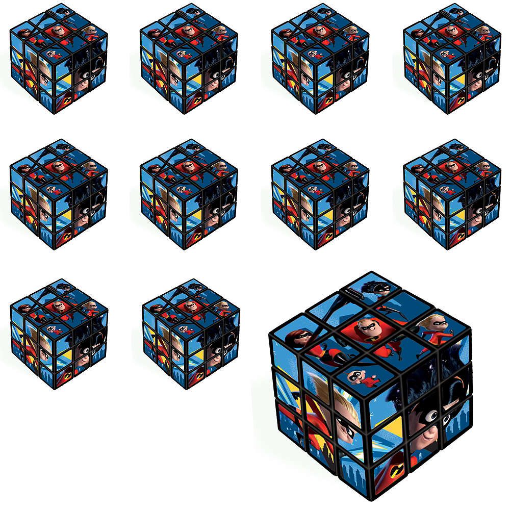 Incredibles 2 Puzzle Cubes 24ct Image #1