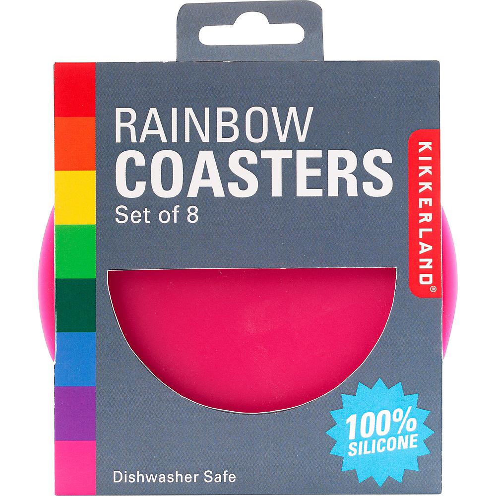Rainbow Coasters 8ct Image #1