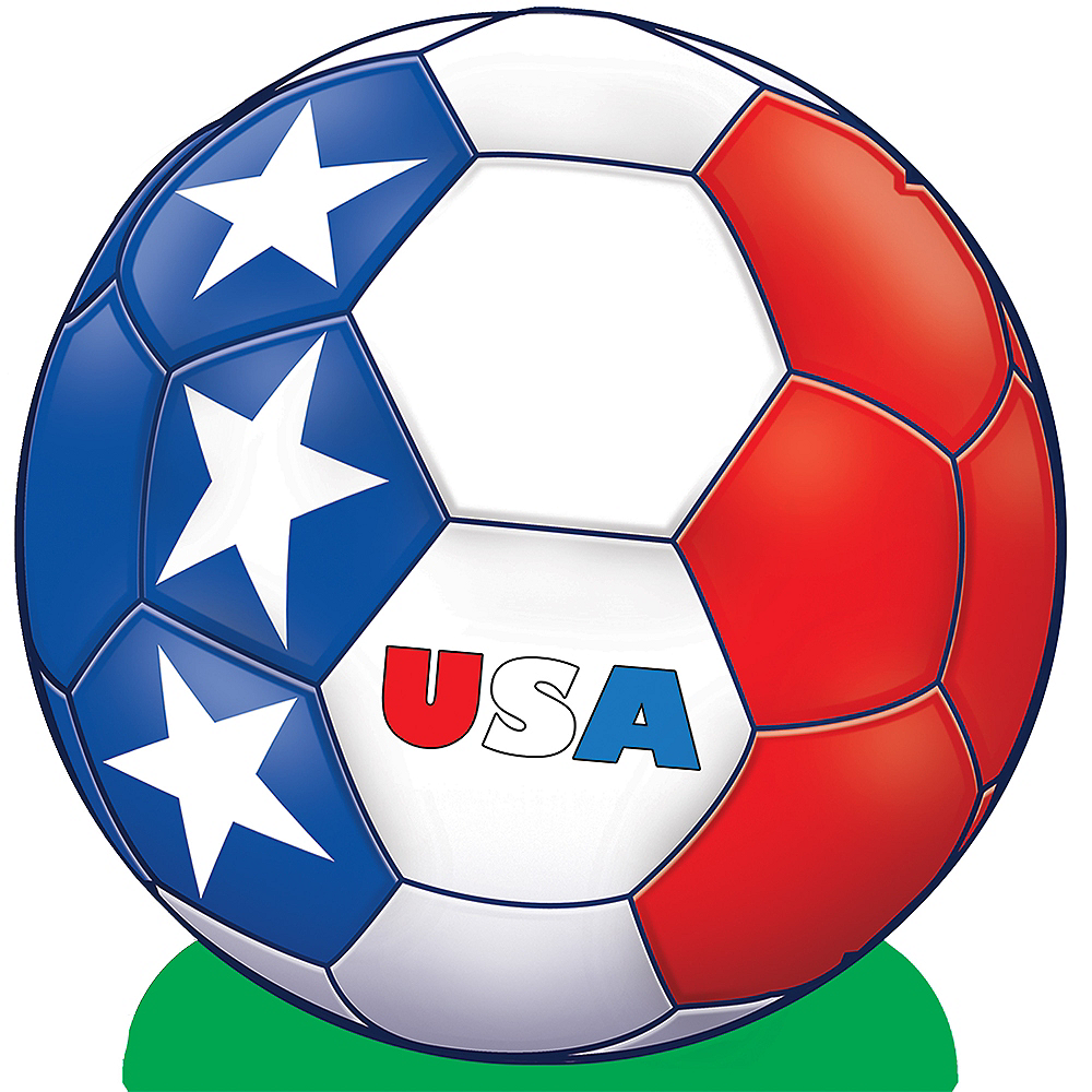USA Soccer Ball Centerpiece Image #1