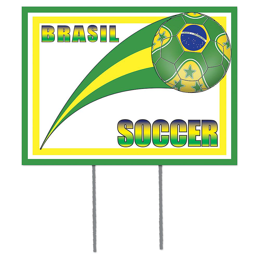 Brazil Soccer Yard Sign Image #1