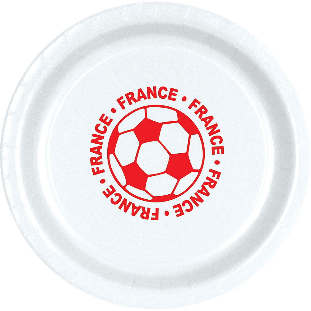 France Soccer Lunch Plates 8ct Image #1