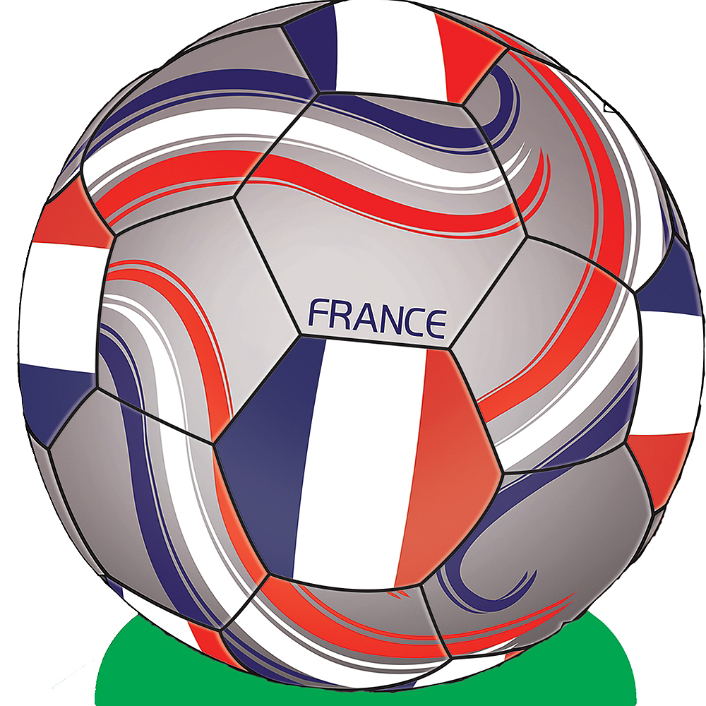 France Soccer Ball Centerpiece Image #1