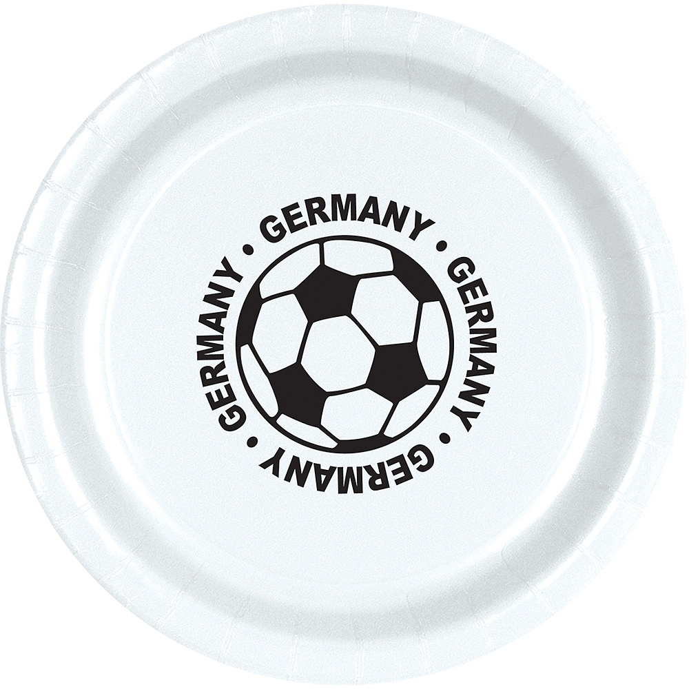 Germany Soccer Lunch Plates 8ct Image #1