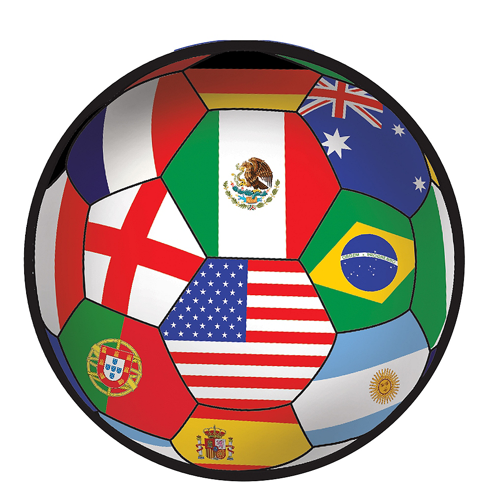 International Soccer Ball Sticker Image #1