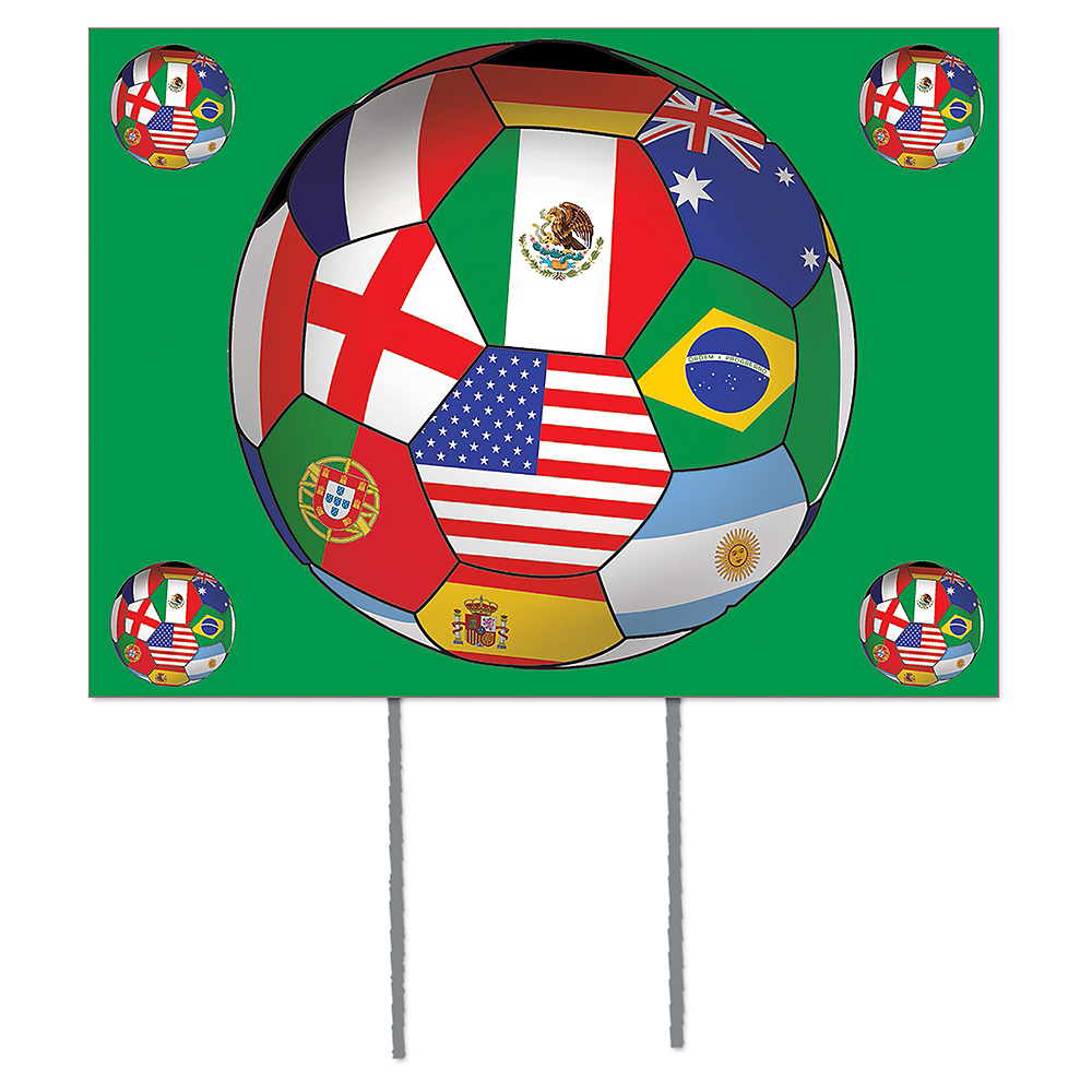 International Soccer Yard Sign Image #1