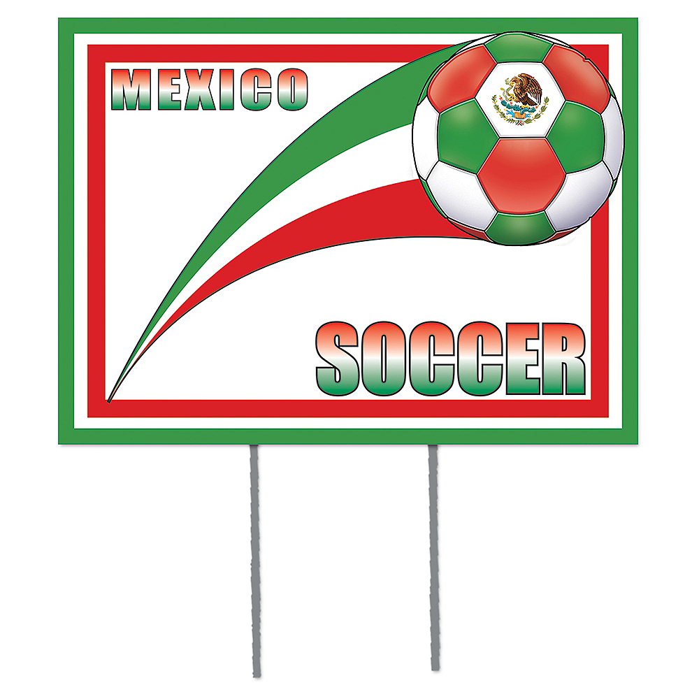 Mexico Soccer Yard Sign Image #1