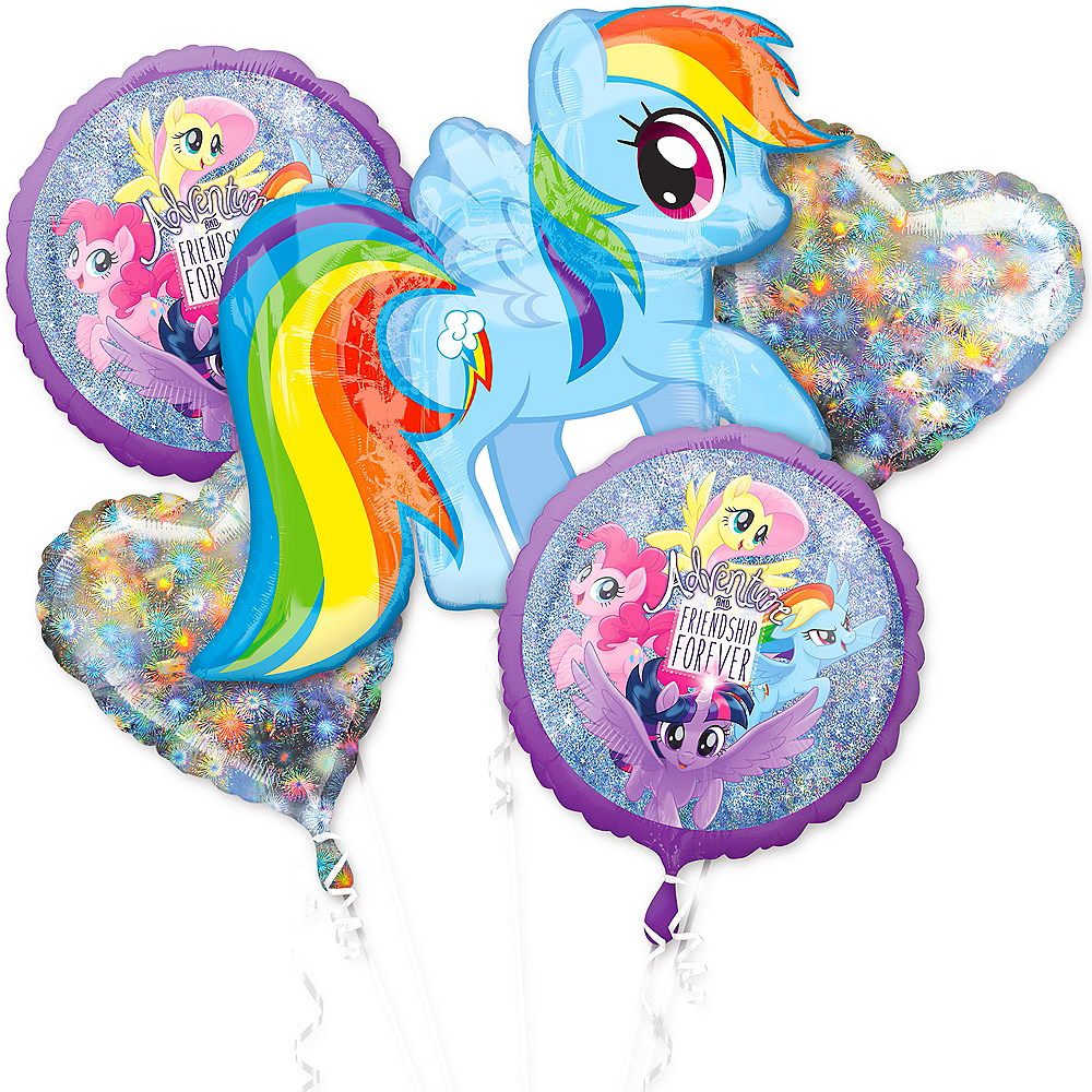 Prismatic My Little Pony Balloon Bouquet 5pc Image #1