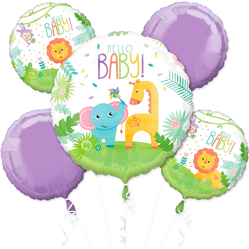 Fisher-Price Hello Baby Shower Balloon Bouquet 5pc