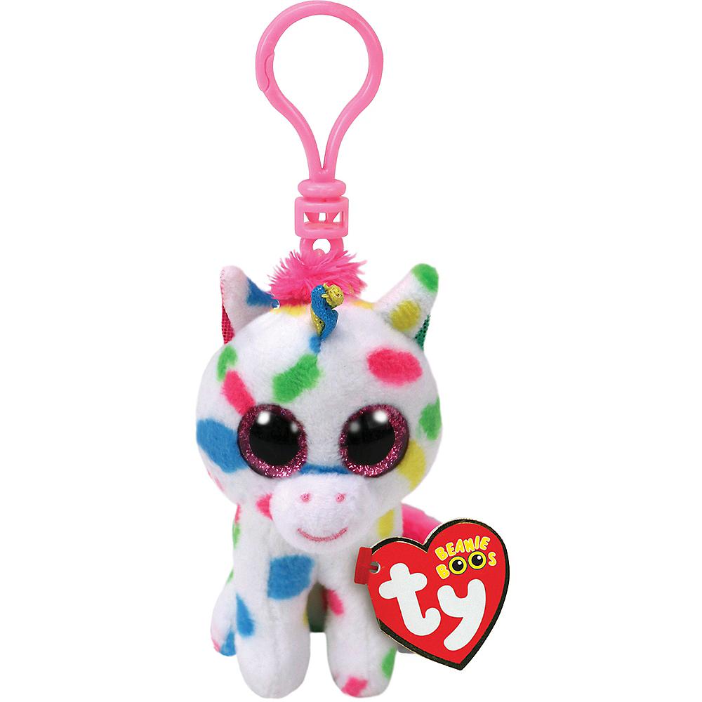 Clip-On Harmonie Beanie Boo Unicorn Plush Image #1