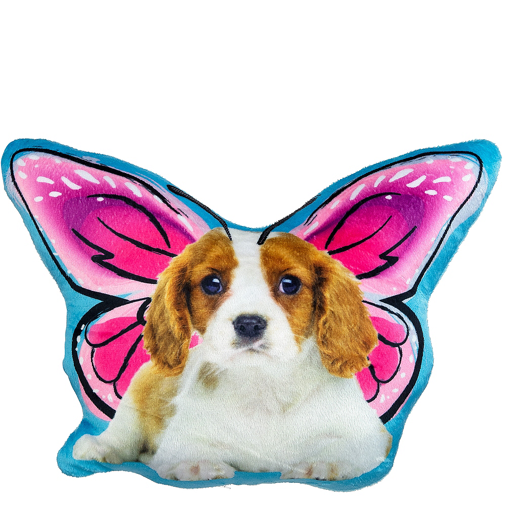 Puppy Butterfly Pillow Plush Image #1