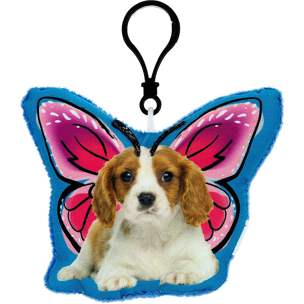 Clip-On Puppy Butterfly Plush Image #1