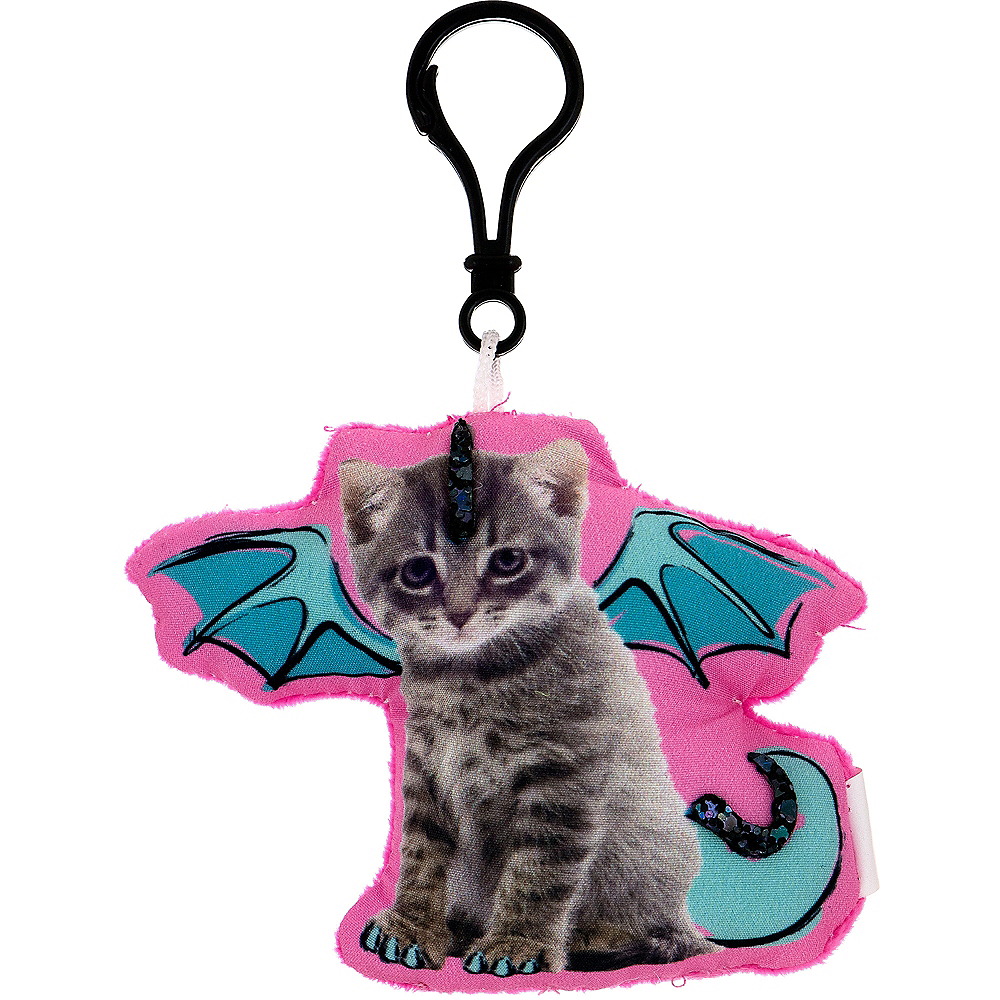 Clip-On Dragon Cat Plush Image #1