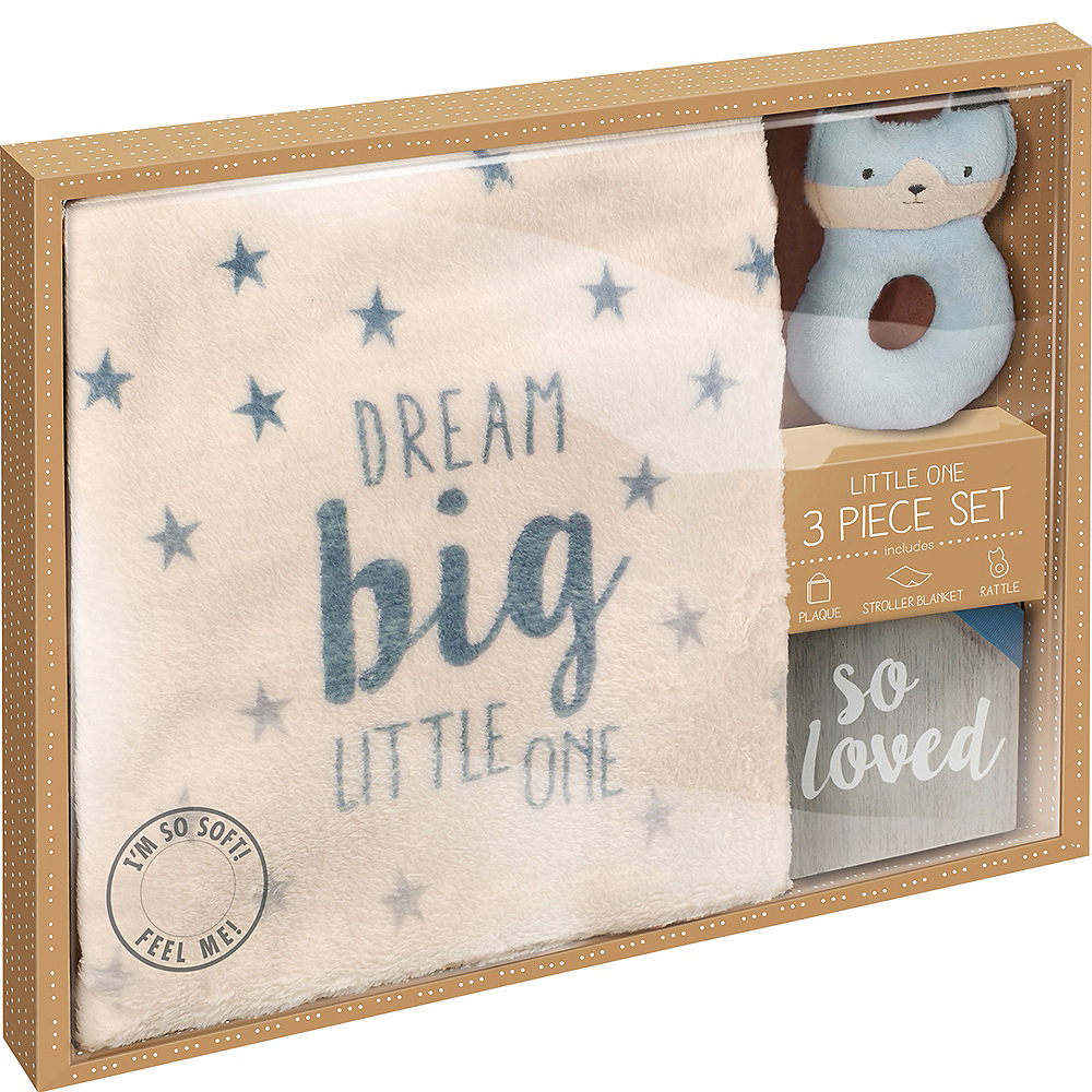 Blue Newborn Gift Set 3pc Image #3