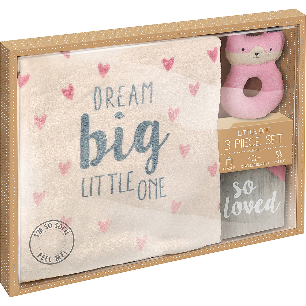 Pink Newborn Gift Set 3pc Image #3