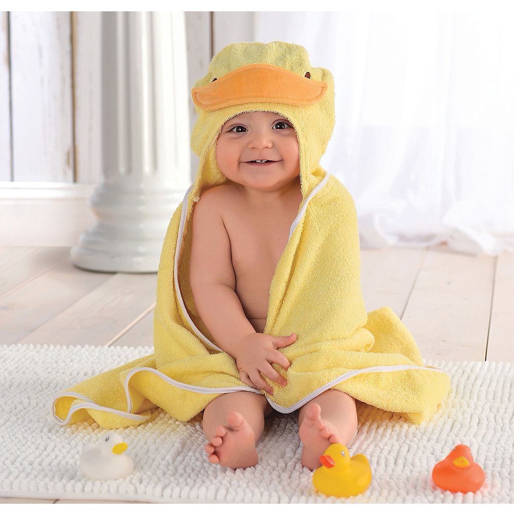 Hooded Duck Towel with Rubber Ducks Image #1