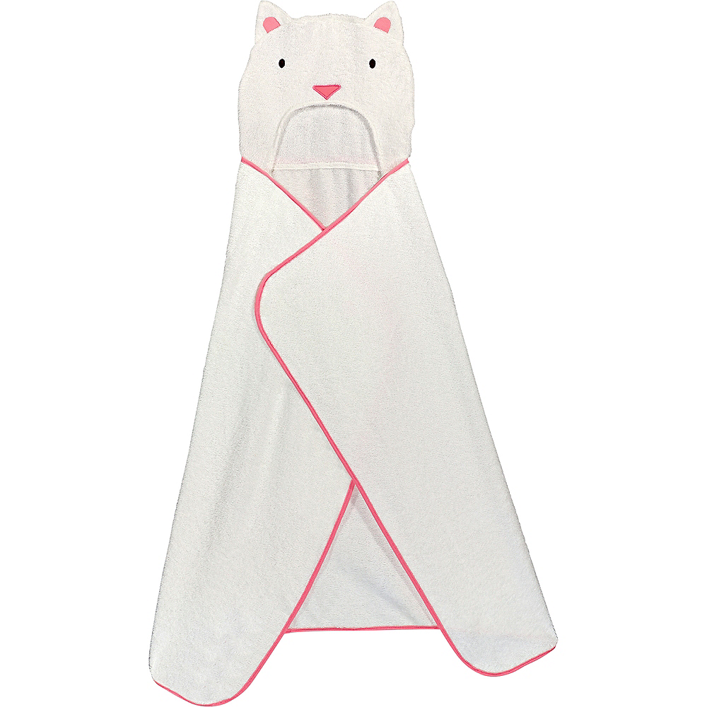 Hooded Cat Towel with Fish Bath Toys Image #4