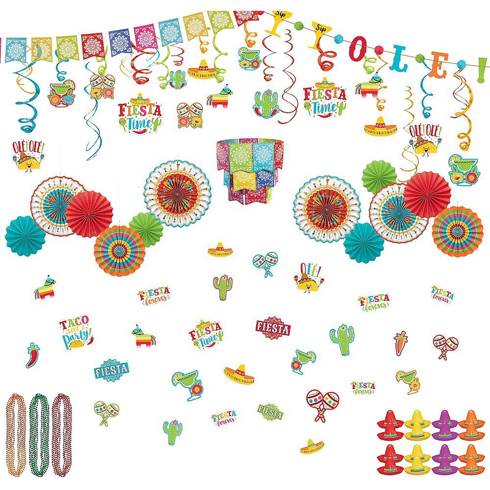 Fiesta Time Party Decorating Kit Image #1