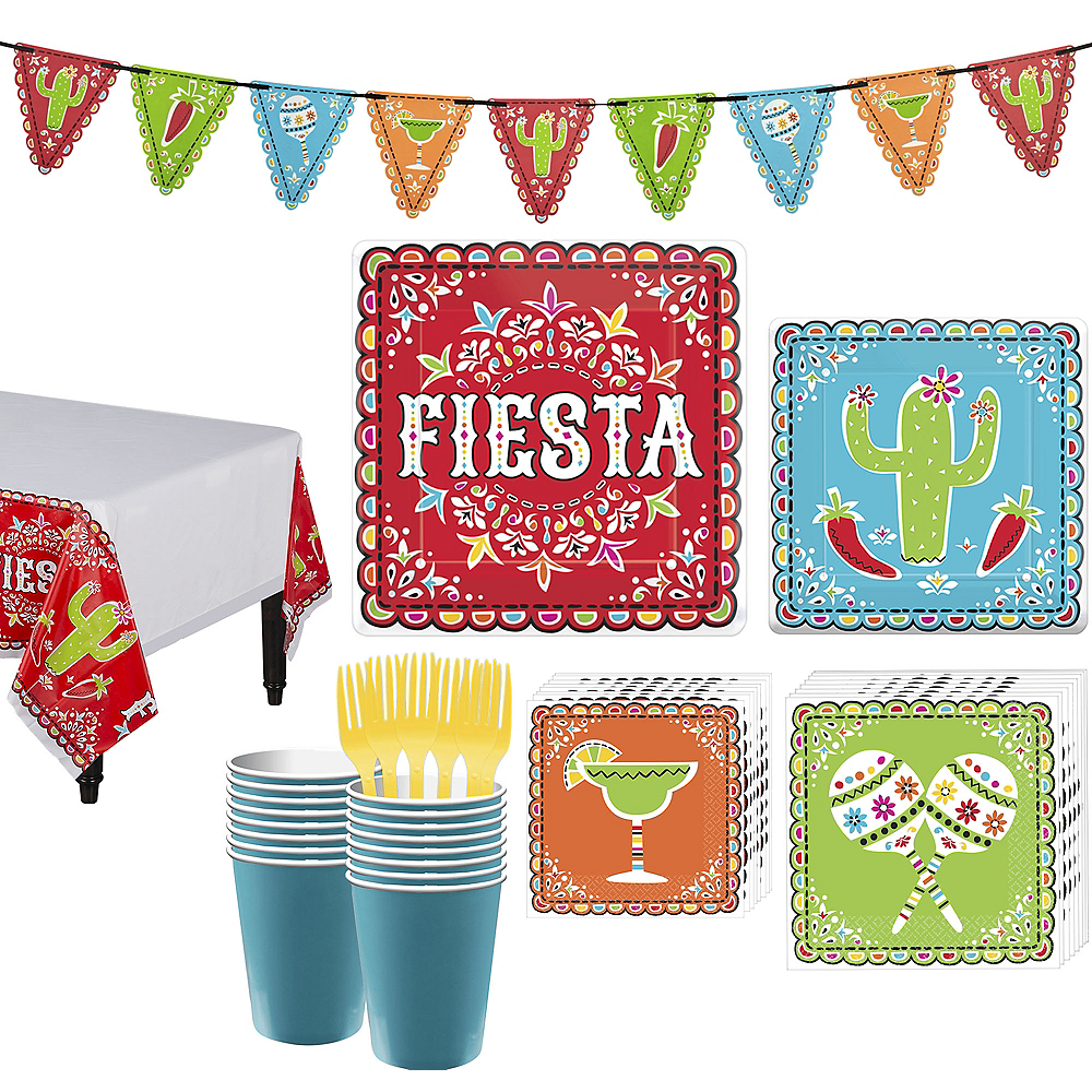 Nav Item for Papel Picado Cinco de Mayo Party Kit for 18 Guests Image #1