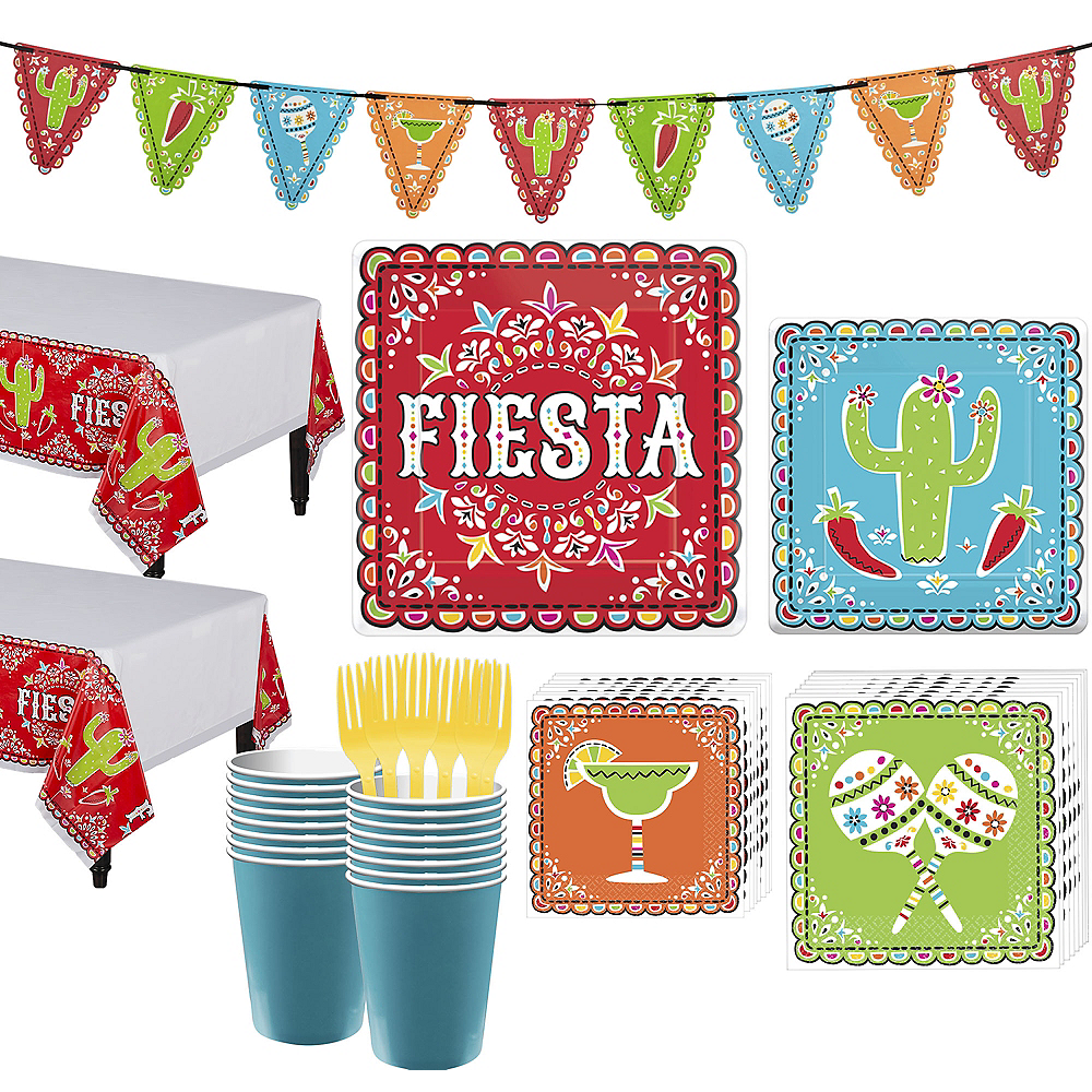 Nav Item for Papel Picado Cinco de Mayo Party Kit for 36 Guests Image #1
