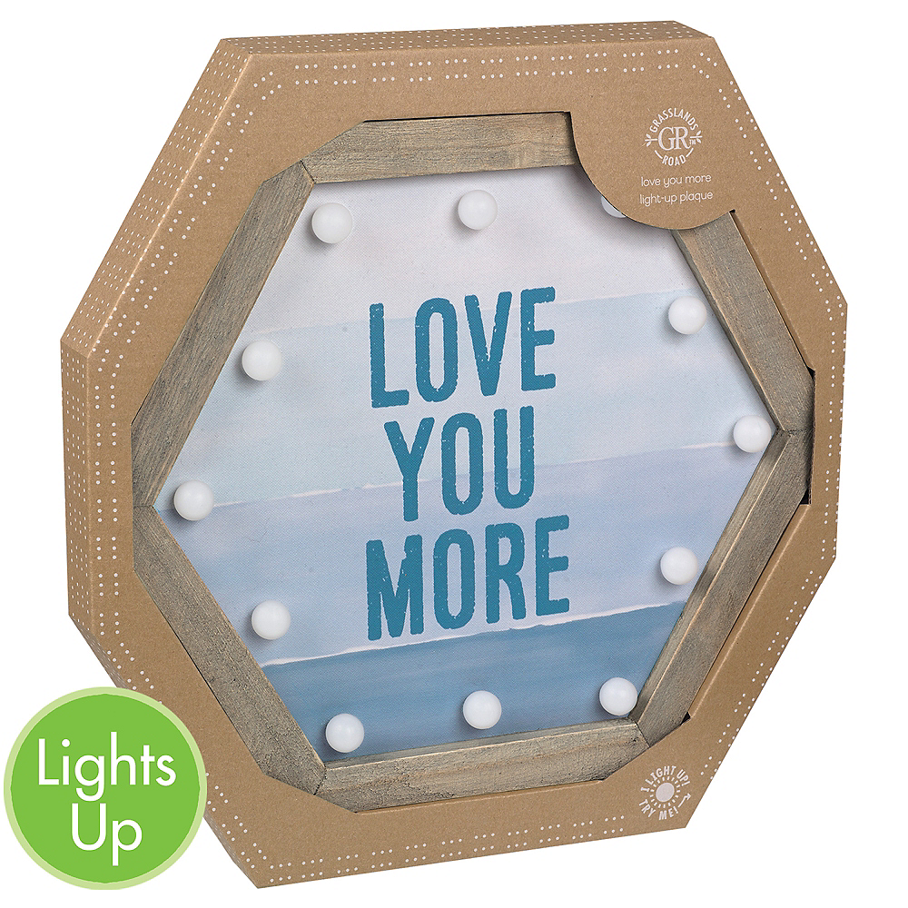 Light-Up Blue Love You More Marquee Sign Image #1
