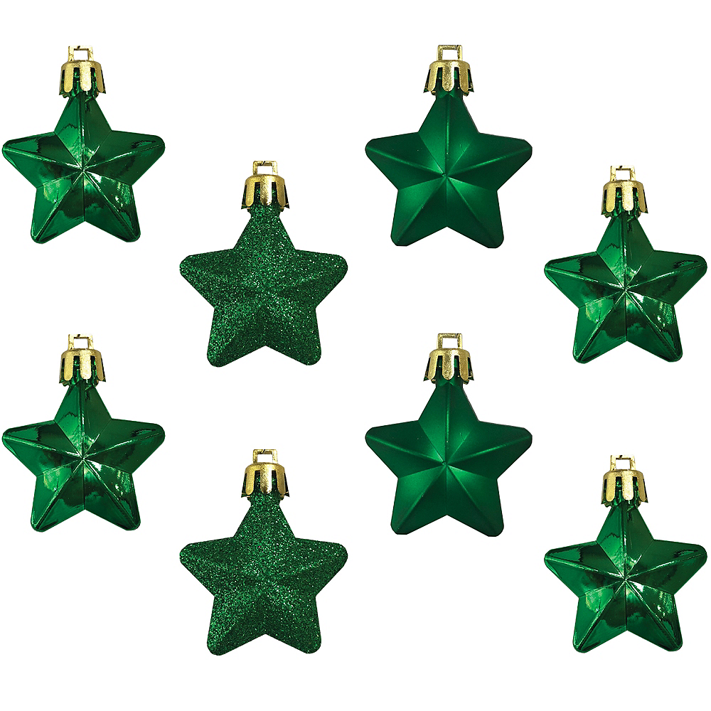 Green Star Ornaments 8ct Image #1