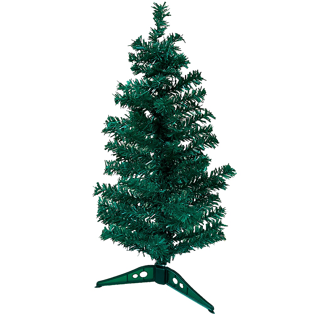 Mini Evergreen Tinsel Christmas Tree Image #1