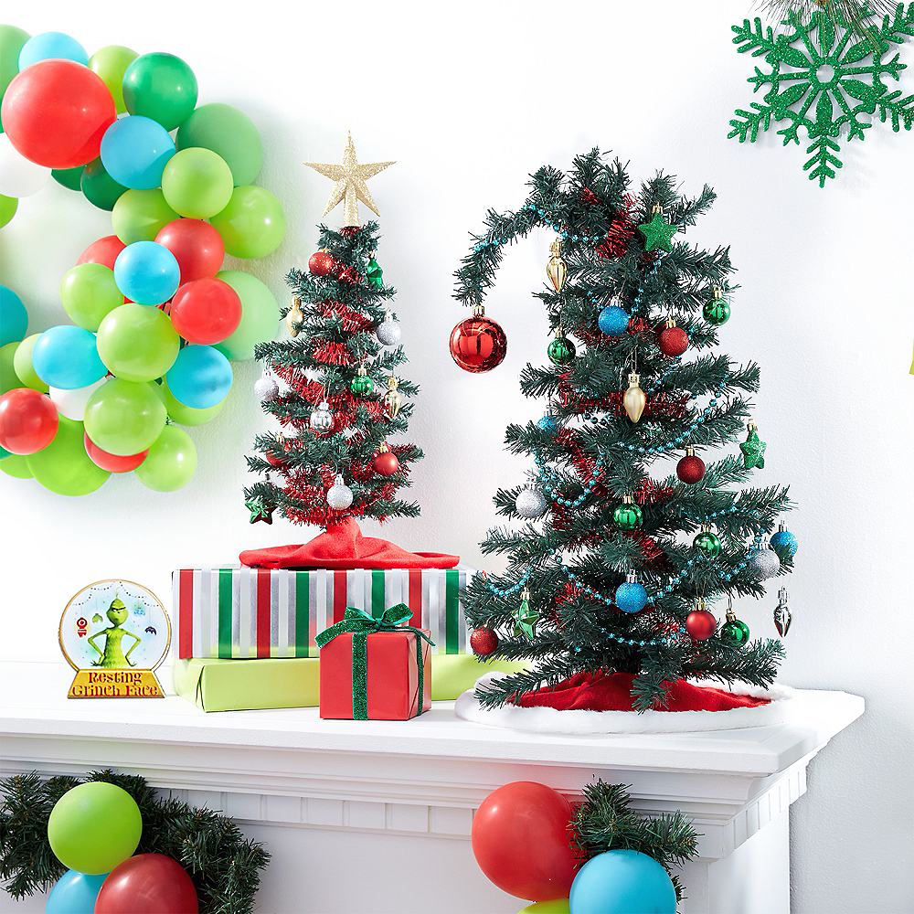 Mini Evergreen Tinsel Christmas Tree Image #2
