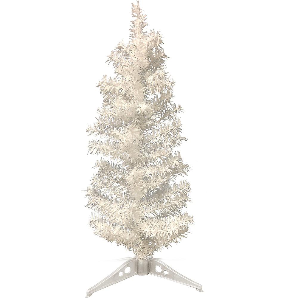 mini white tinsel christmas tree image 1