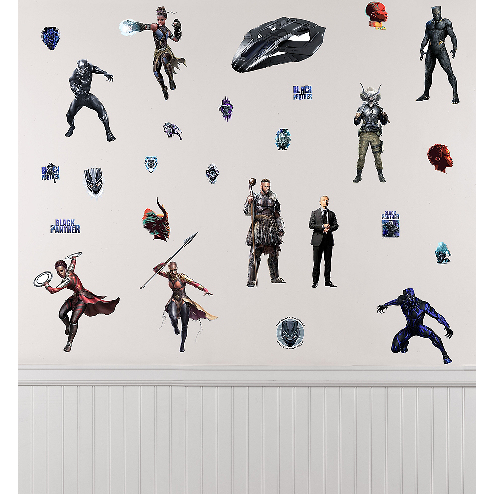 Black panther wall decals 26ct image 1