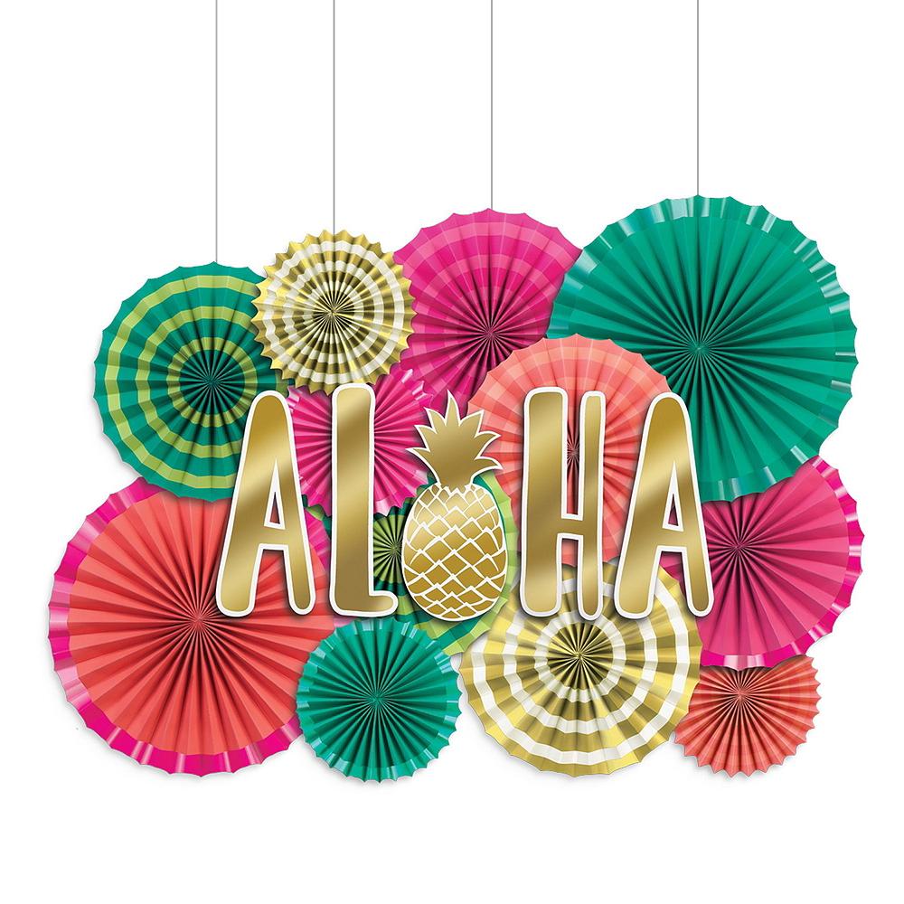 Aloha Hawaiian Hanging Decorating Kit Image #3