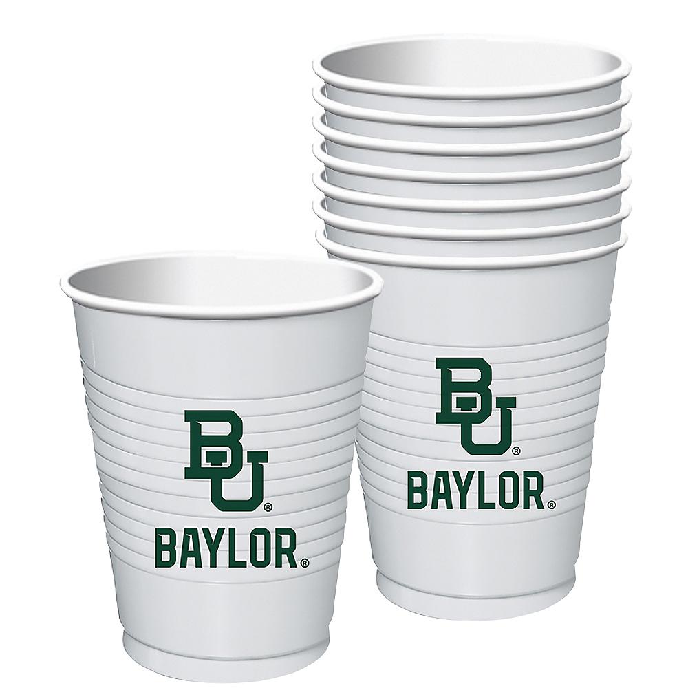 Baylor Bears Plastic Cups 8ct Image #1