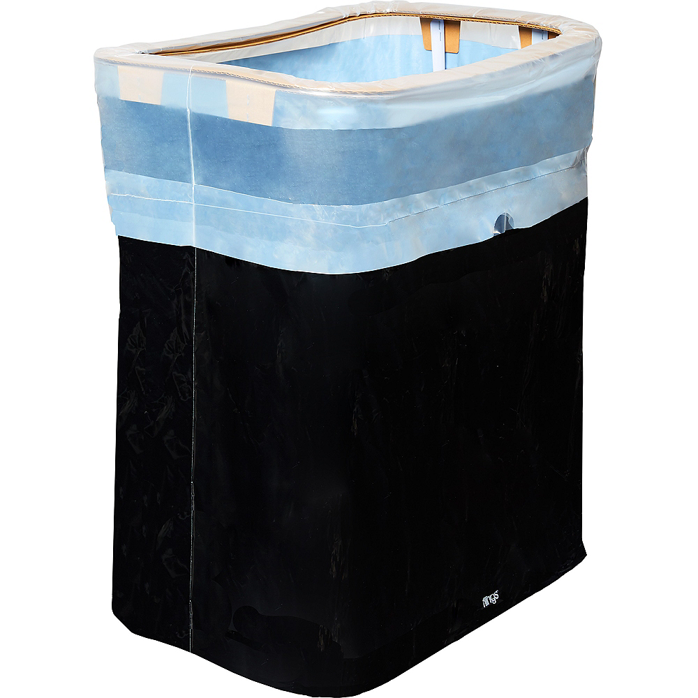 Giant Black Pop-Up Trash Bin Image #1