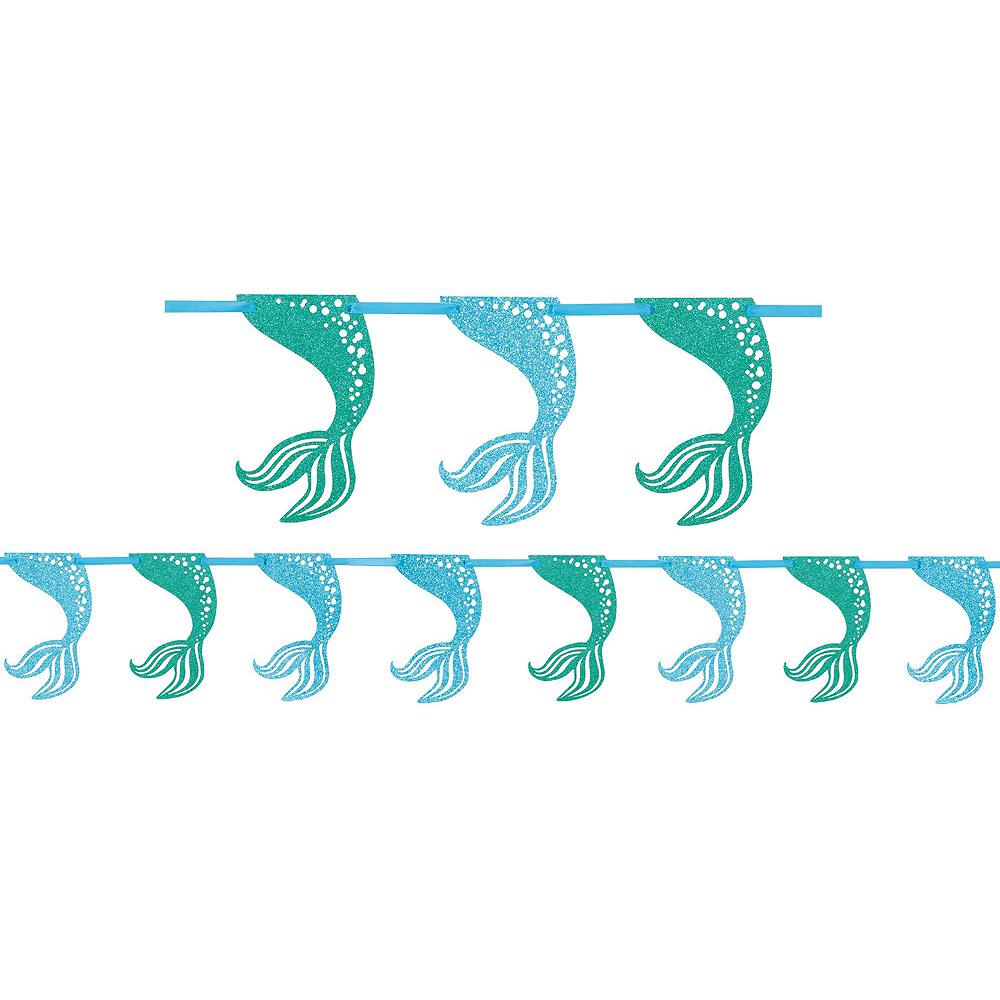 Mermaid Fan Wall Decorating Kit Image #2