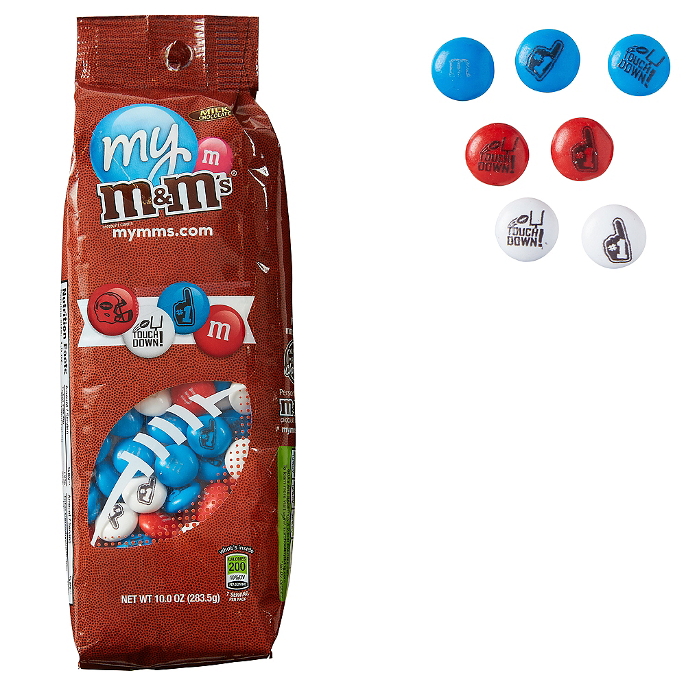 Red, White & Blue Football M&M's Image #1