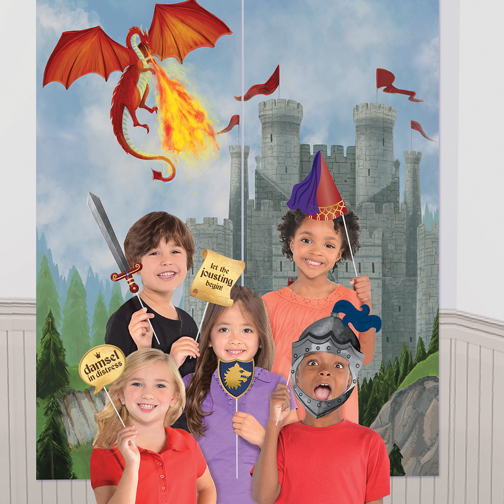 Medieval Scene Setter with Photo Booth Props Image #1