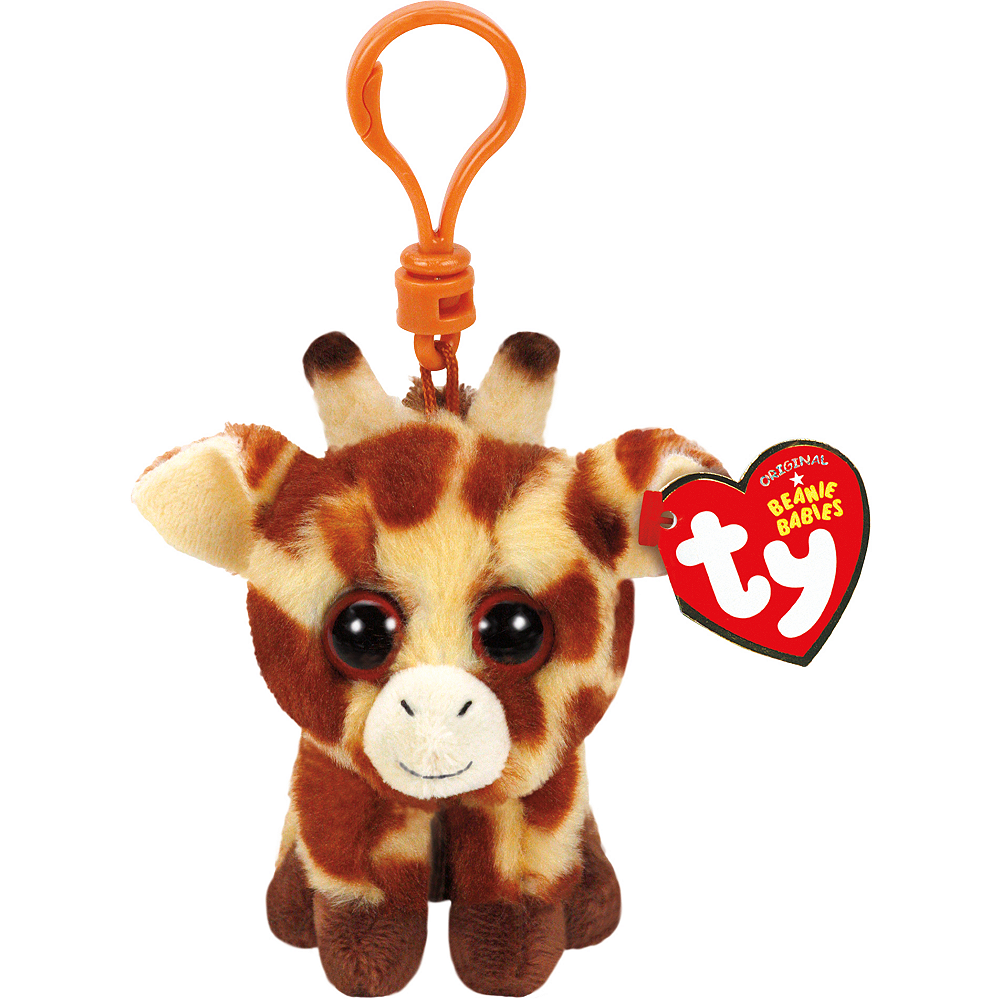 Clip-On Peaches Beanie Boos Giraffe Plush Image #1
