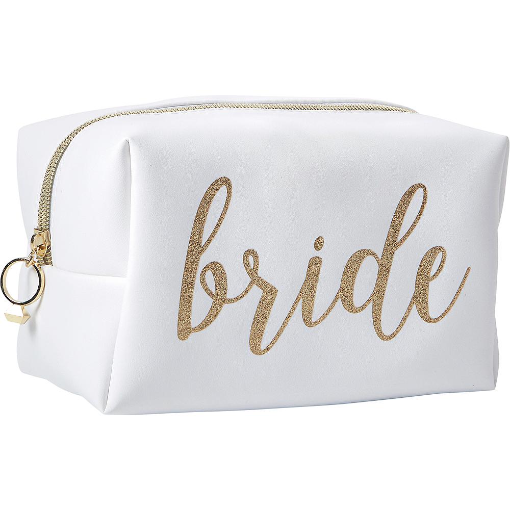 Glitter Gold Bride Makeup Bag Image #1