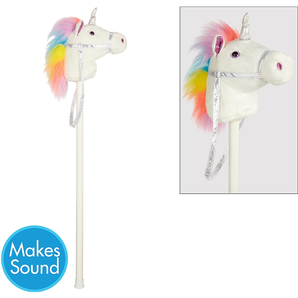 Nav Item for White Unicorn Hobby Horse Image #1