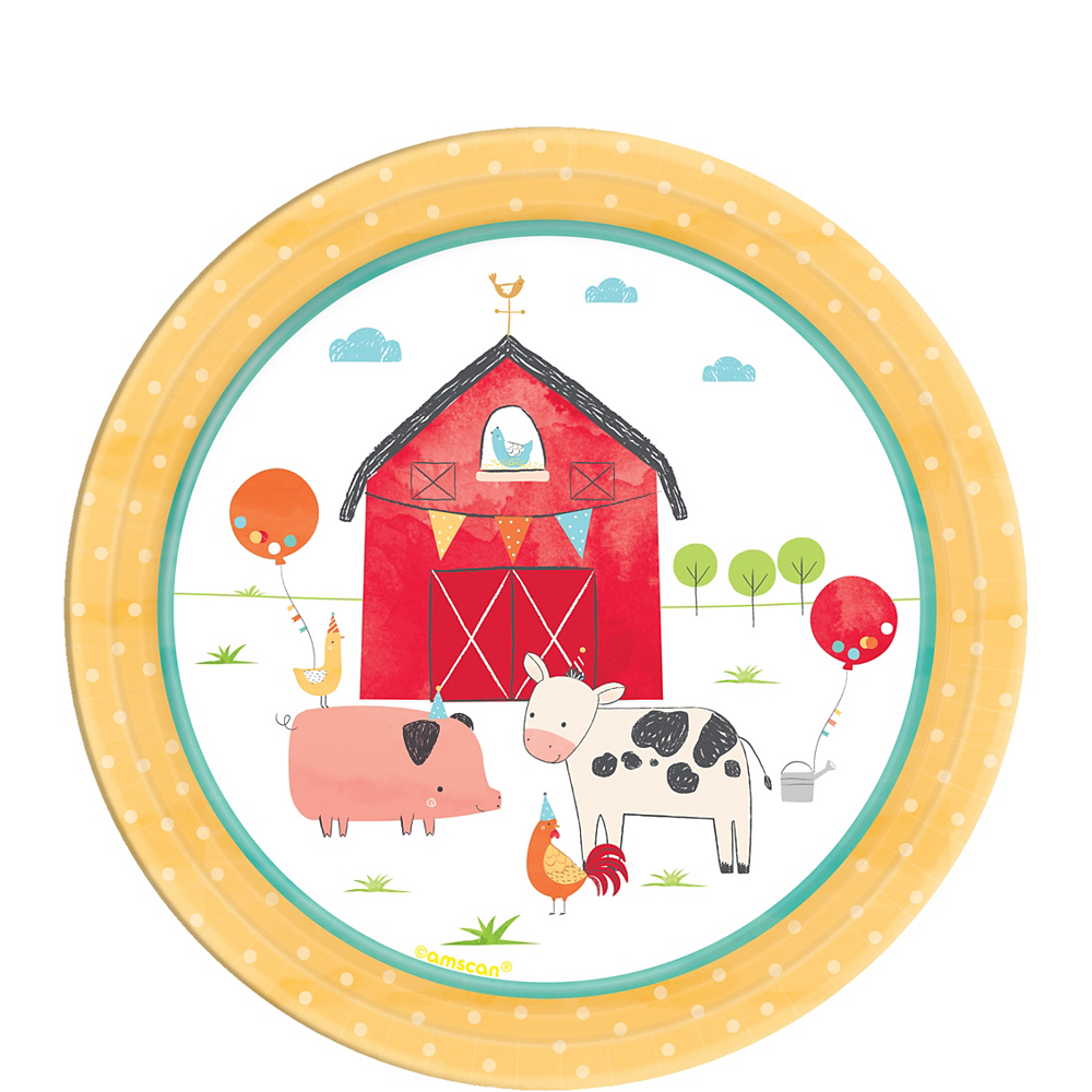Friendly Farm Dessert Plates 18ct Image #1