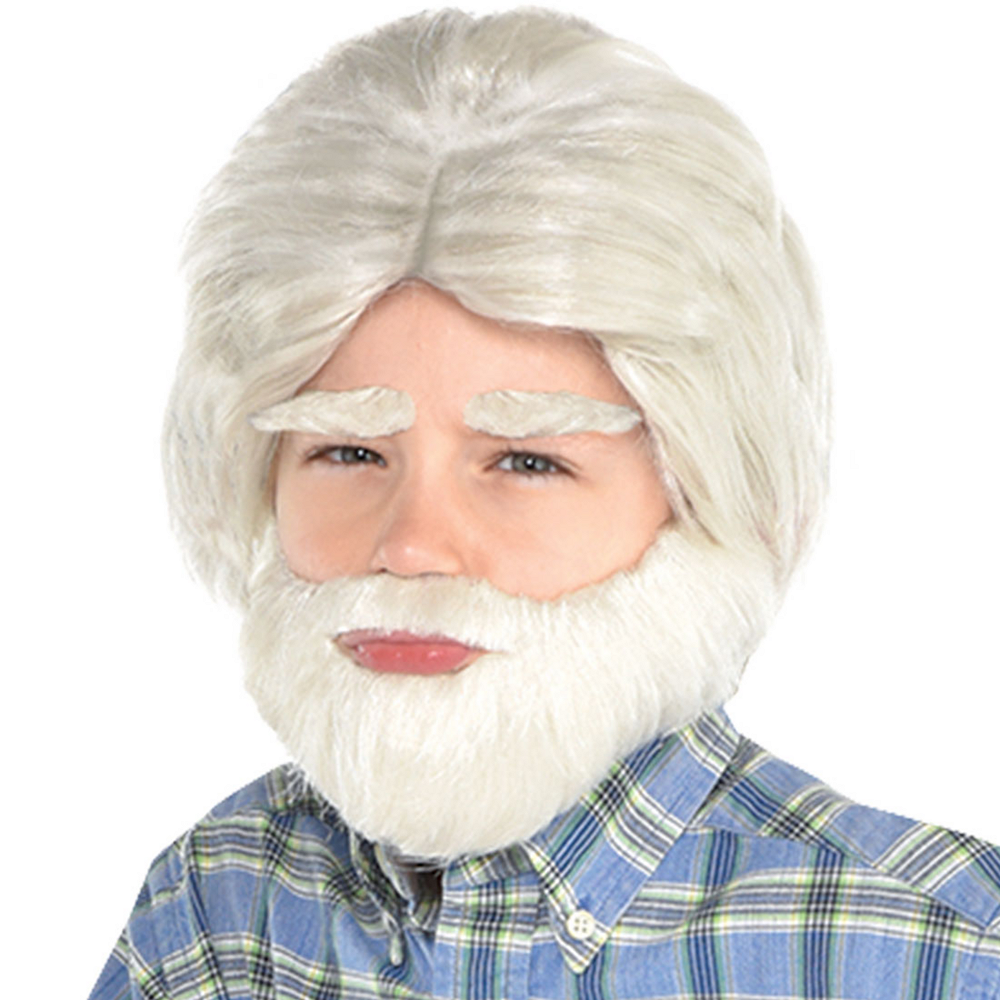 100th Day of School Grandpa Facial Hair Set 3pc Image #1