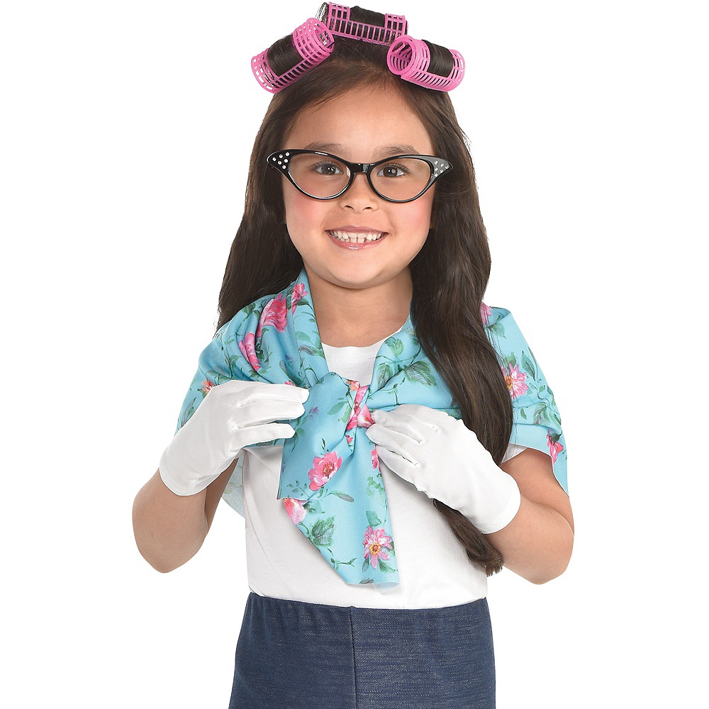 Girls 100th Day of School Grandma Costume Accessory Kit Image #1