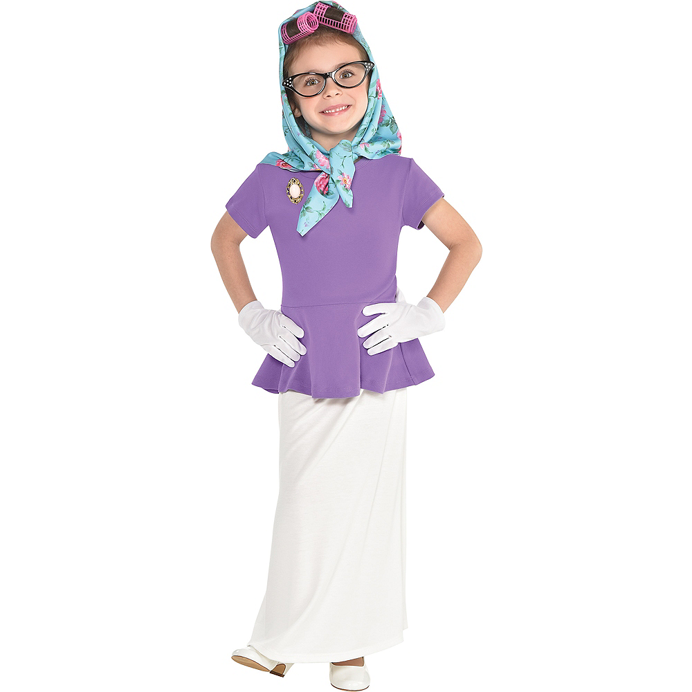 Girls 100th Day of School Grandma Costume Accessory Kit Image #2