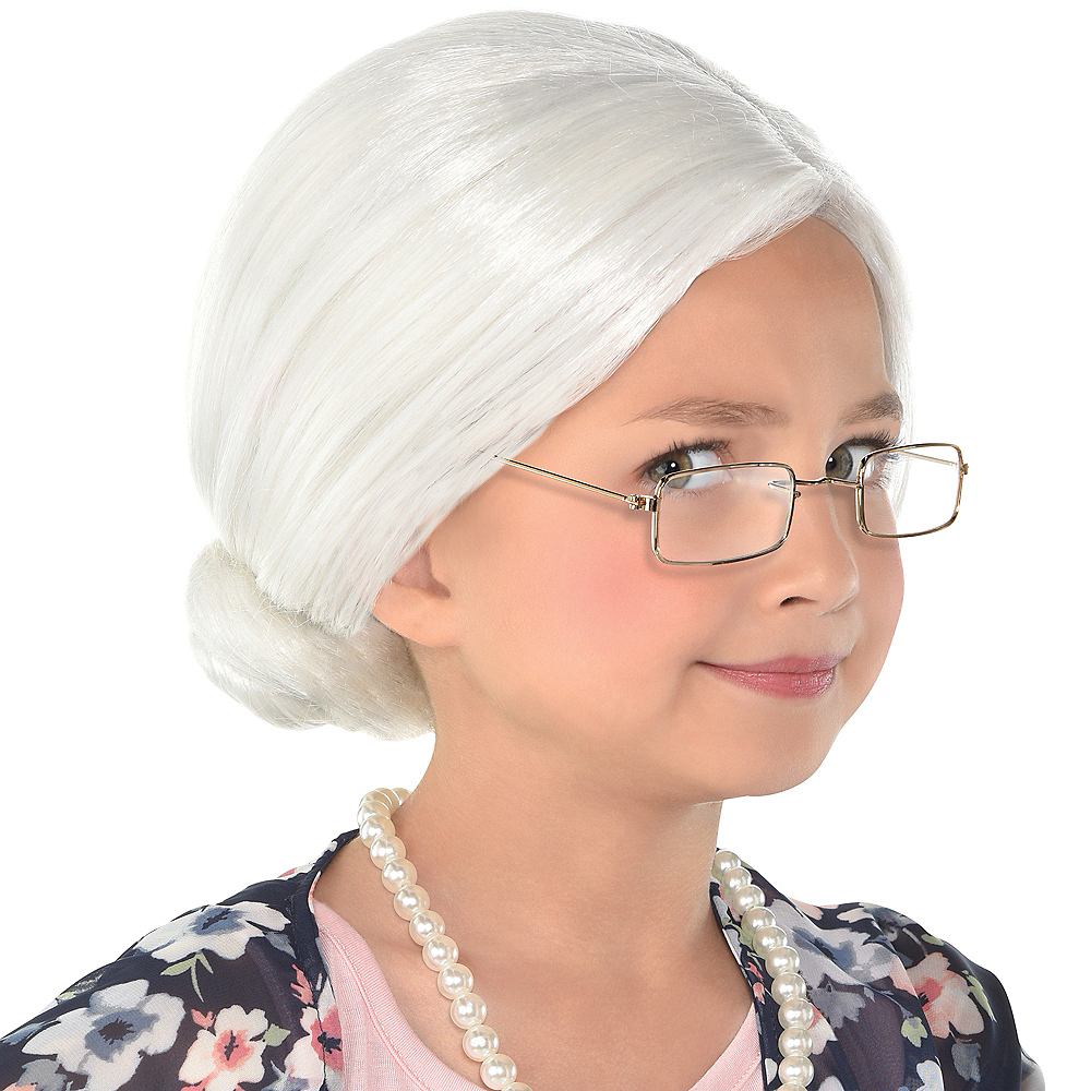 100th Day of School Grandma Wig Image #1