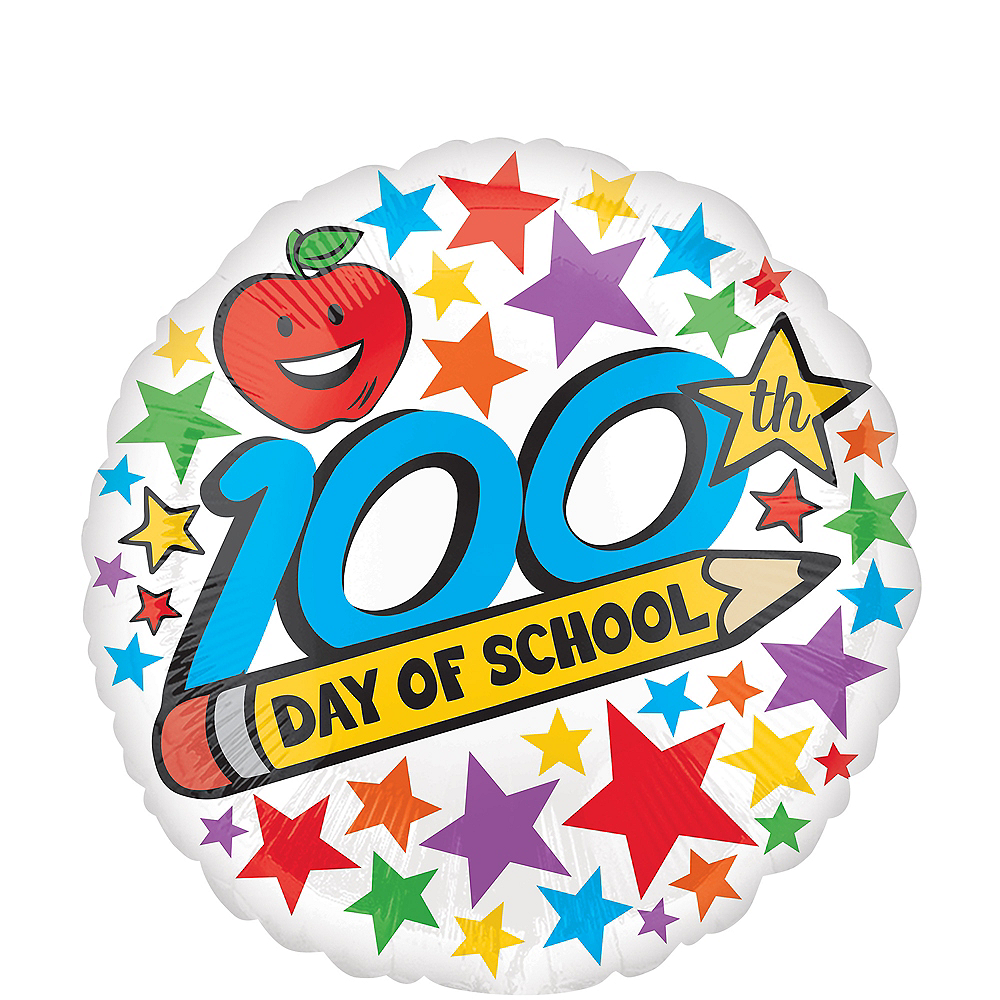 100th Day of School Balloon, 17in Image #1