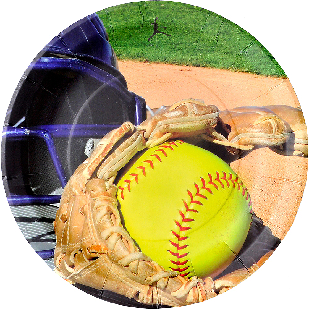 Fastpitch Softball Lunch Plates 8ct Image #1