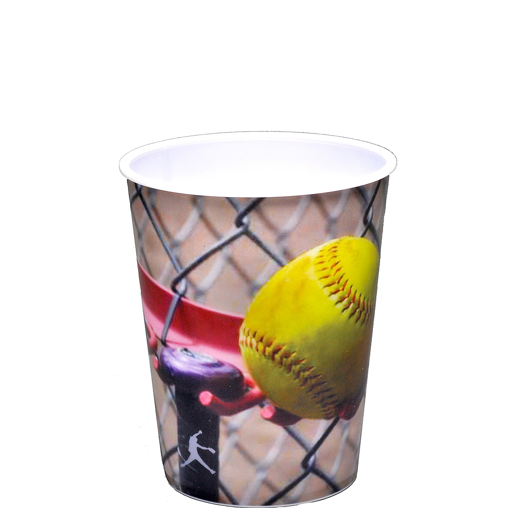 Fastpitch Softball Favor Cup Image #1